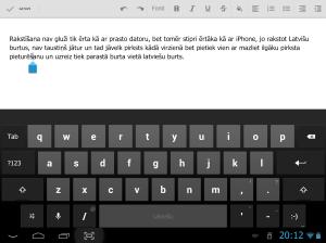 Rakstīšana ar Android planšeti